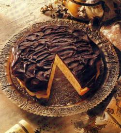 Фото готового Бостонского пирога