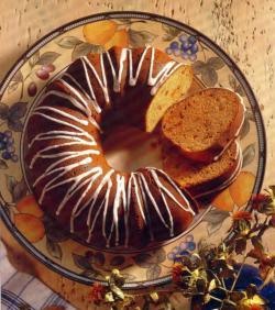 Фото готового кекса с повидлом