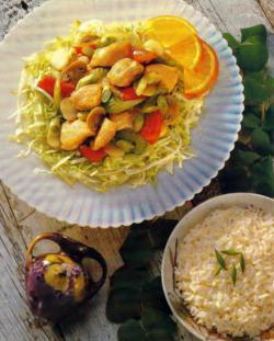 Фото готового куриного салата