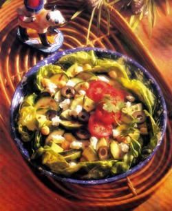 Фото готового салата с цукини