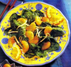 Фото готового шпинатного салата