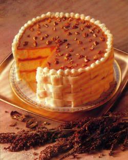 Фото готового сливочного торта