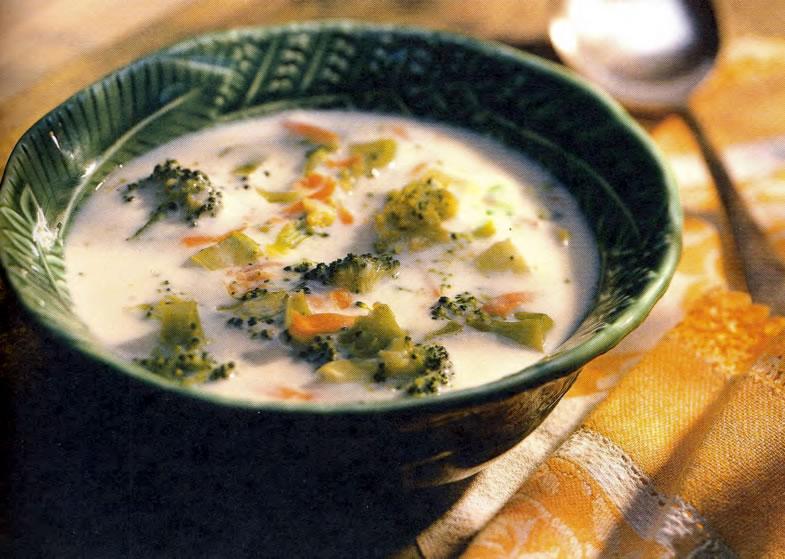 Фото готового супа из брокколи