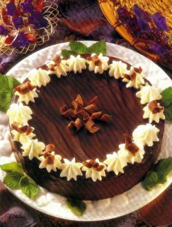 Фото готового трюфельного торта с шоколадом