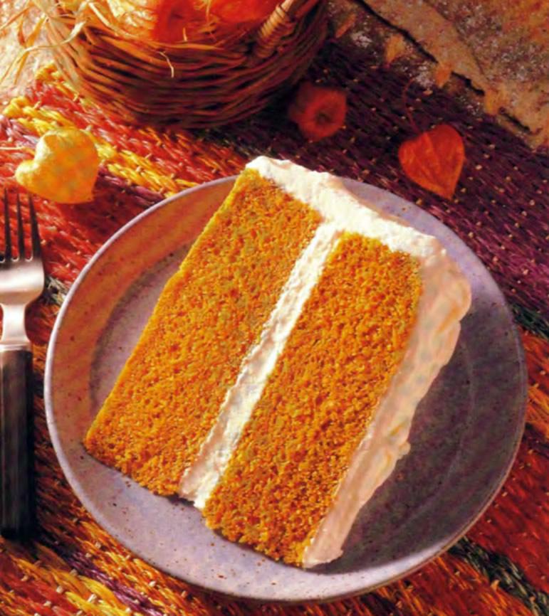 Фото готового тыквенного торта