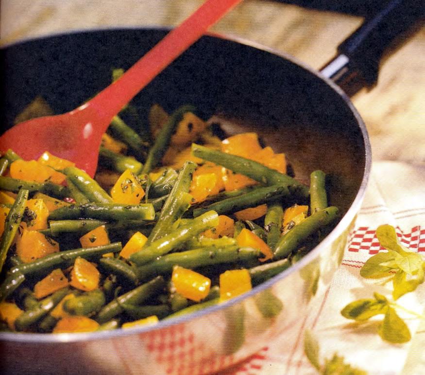 Фото готовой фасоли с перцем «стер-фрай»
