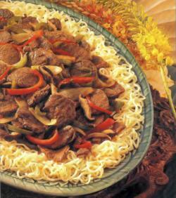 Фото готовой говядины с перцем