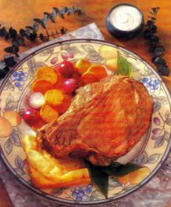 Фото готовой говядины с йоркширским пудингом