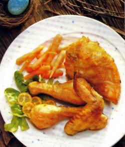 Фото готовой курицы по-деревенски