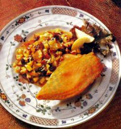Фото готовой курицы с кокосом