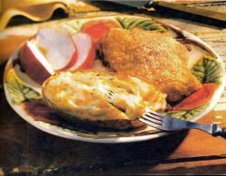 Фото готовой курицы в «Пармезане»