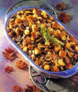 Фото готовой начинки с грибами и рисом