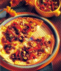Фото готовой пиццы чоризо