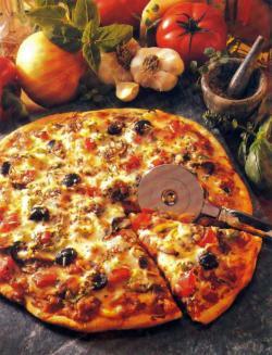 Фото готовой пиццы с анчоусами