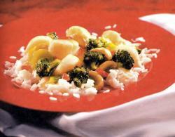 Фото готовых гребешков с брокколи и грибами