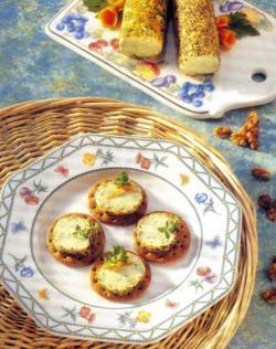 Фото готовых кружочков с сыром