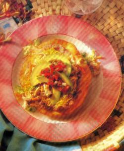 Фото готовых куриных тостадо