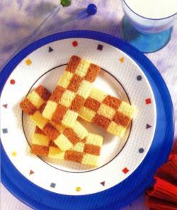 Фото готовых шахматных пирожных