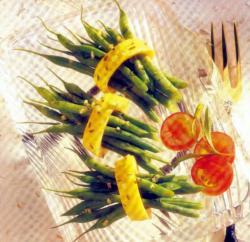 Фото готовых зеленых бобов