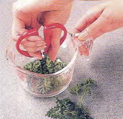 Как измельчить свежую петрушку и тимьян