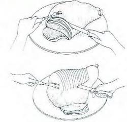 Как нарезать окорок