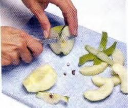 Как нарезать яблоки