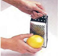 Как натереть лимонную цедру