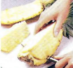 Как очистить и нарезать ананас