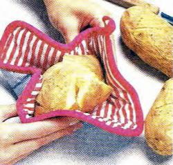 Как сделать на картофеле два надреза