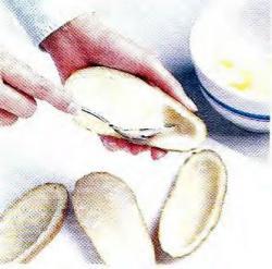 Как вычерпать картофель из кожуры