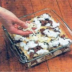 Как выложить слой сыра