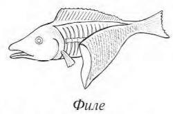 Нарезка рыбы филе