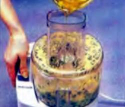 Приправа: Шаг 2. Медленная заливка масла в комбайн