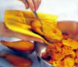 Шаг 2. Извлечение мякоти из картофеля