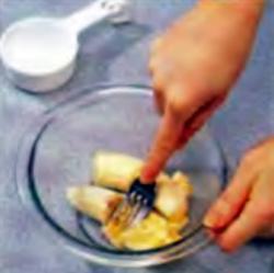 Шаг 2. Получение мякоти банана