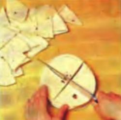 Шаг 2. Резка лепешек