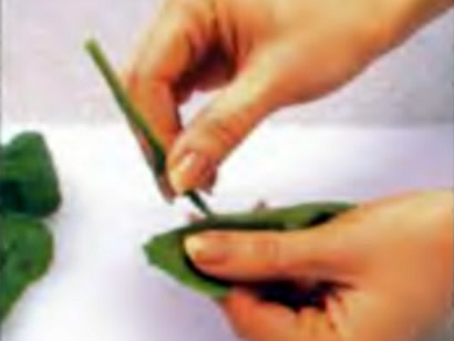Шаг 2. Удаление черенков шпината