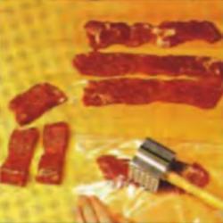 Шаг 4. Отбивание мяса