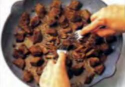 Шаг 4. Разделение кубиков говядины