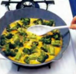 Шаг 5. Приготовление смеси с брокколи