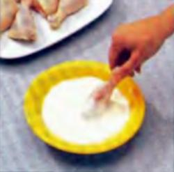 Шаг 6. Вымачивание ножек в йогурте
